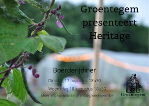 Groentegem presenteert Heritage @ Groentegem